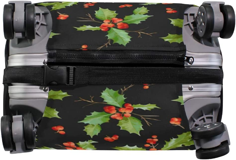 Black Christmas Pine Cone Travel Luggage Protector Case Suitcase Protector For Man/&Woman Fits 18-32 Inch Luggage