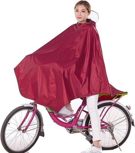 Mujer bicicleta lluvia Poncho, Chubasquero transpirable con ...