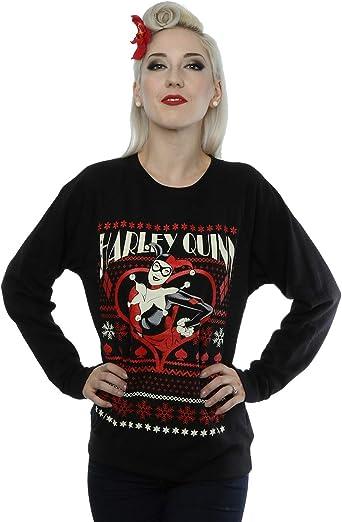 DC Comics Mujer Batman Harley Quinn Christmas Camisa de Entrenamiento