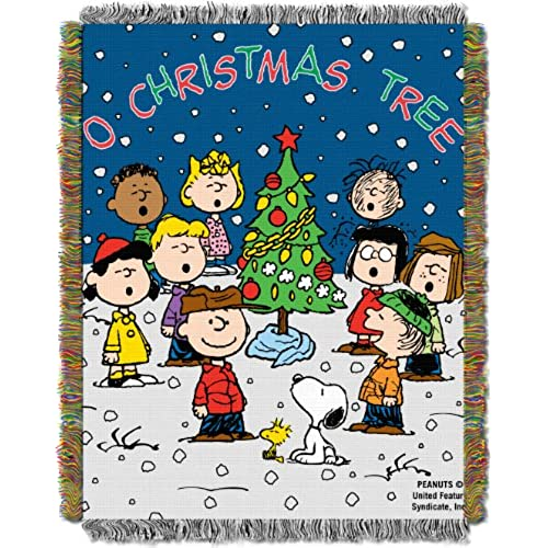 northwest peanuts charlie brown charlie brown christmas 48 inch by 60 inch acrylic tapestry throw by the company
