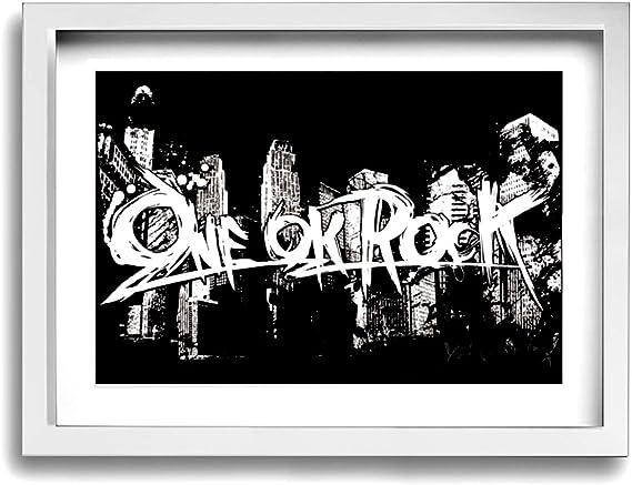 Amazon Co Jp ワンオク ロック One Ok Rock フォトフレーム アートフレーム 水彩画 セット 額縁付きの完成品 キャンバス絵画 壁掛け ウォールアート プレゼント イラスト アーティスト 取り付けやすい 30 40cm 横 服 ファッション小物