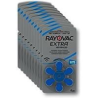 Rayovac Extra advanced Piles auditives Zinc Air, taille 312, Lot de 60