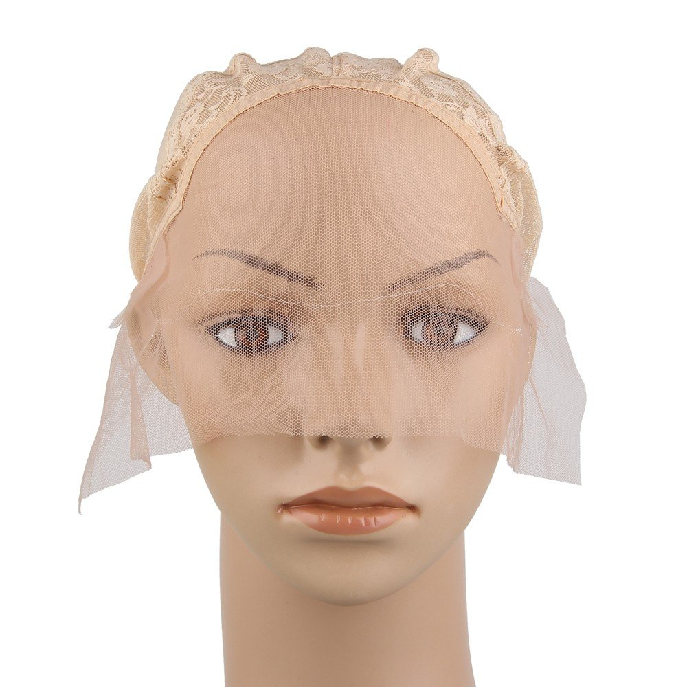 Beauty7 Swiss Lace Front Wig Caps With Elastic Adjustable Straps