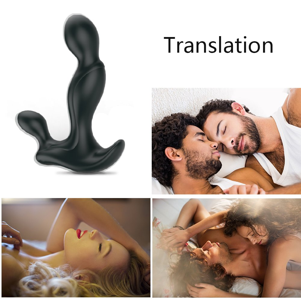 Plug prostate massage device Butt plug with pedestal of silicone prostate vibrator Prostate massage for beginners and advanced men and women black MagicHome