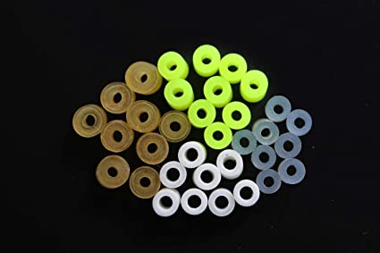 200 pcs Silicone Band Fishing Skirts Tools SpinnerBait Buzzbait Hand Fittings