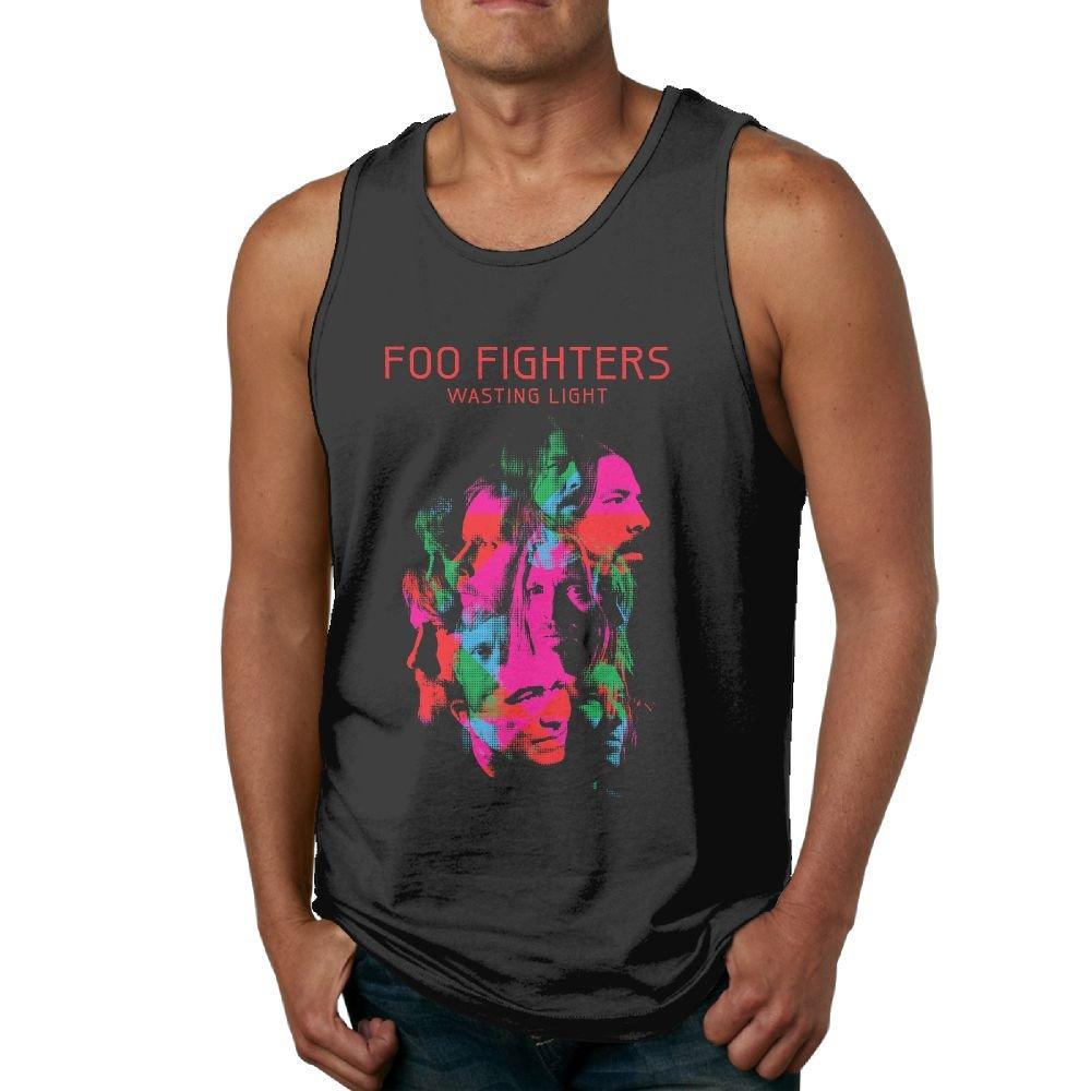 Gilles Men's Foo Fighters Basic Tank Top Tee Black