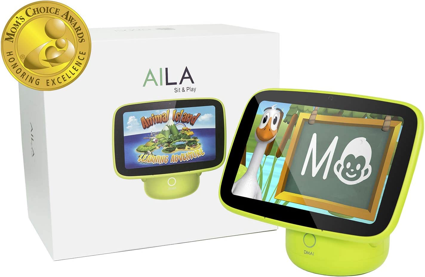 ANIMAL ISLAND Aila Sit & Play Virtual Early Preschool Learning System  for Toddlers (12+ Months) Mom's Choice Gold Award  Letters, Numbers, Stories and Songs Best Baby Gift for Childhood Education