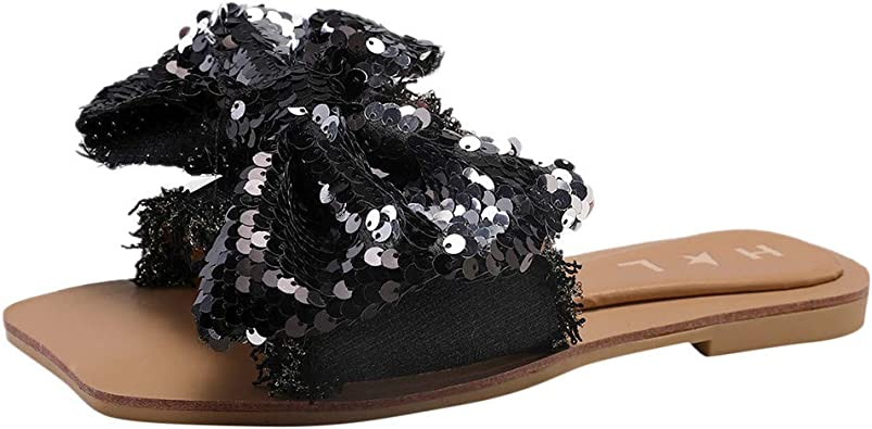 Sandales Antidérapantes à Bout Fermé à Talon Plat pour Femmes