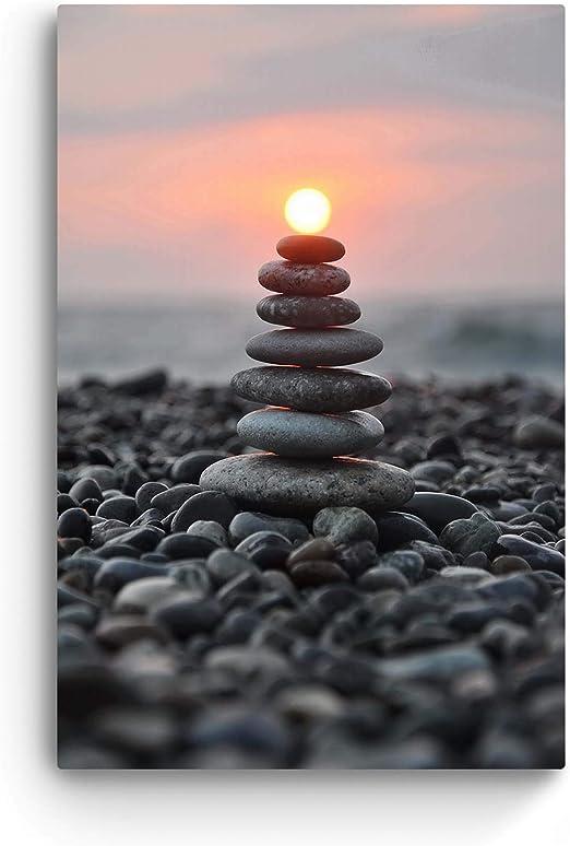 Amazon Com Glass Wall Art Startonight Acrylic Decor Zen Stones