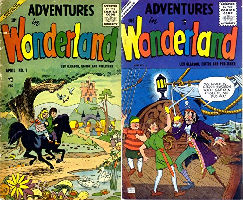 Adventures in wonderland. Lev Gleason. Issues 1 and 2. Cartoon Comics. Golden Age Digital Comics.