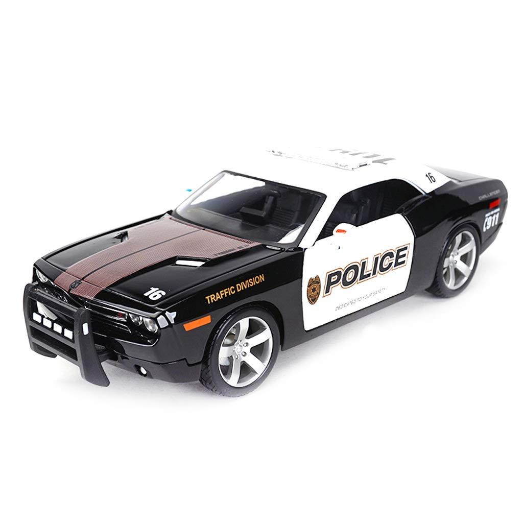 QARYYQ Auto modello auto 1 18 Dodge Chtuttienger Simulazione Lega Die-Casting giocattolo Jewelry Sports auto Collection Jewelry 23.6x10x7.5CM auto scatola