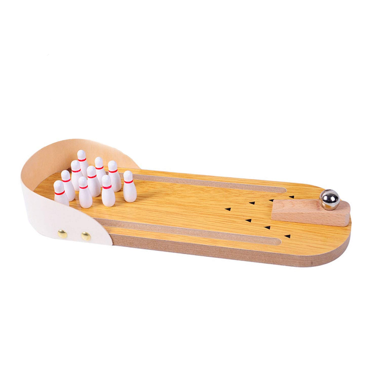 Mini Indoor Wooden Desktop Bowling Game Mini Tabletop Bowling Toy