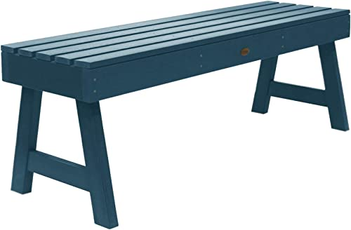 highwood AD-BENN4-NBE Weatherly Backless Bench, 4-Feet, Nantucket Blue