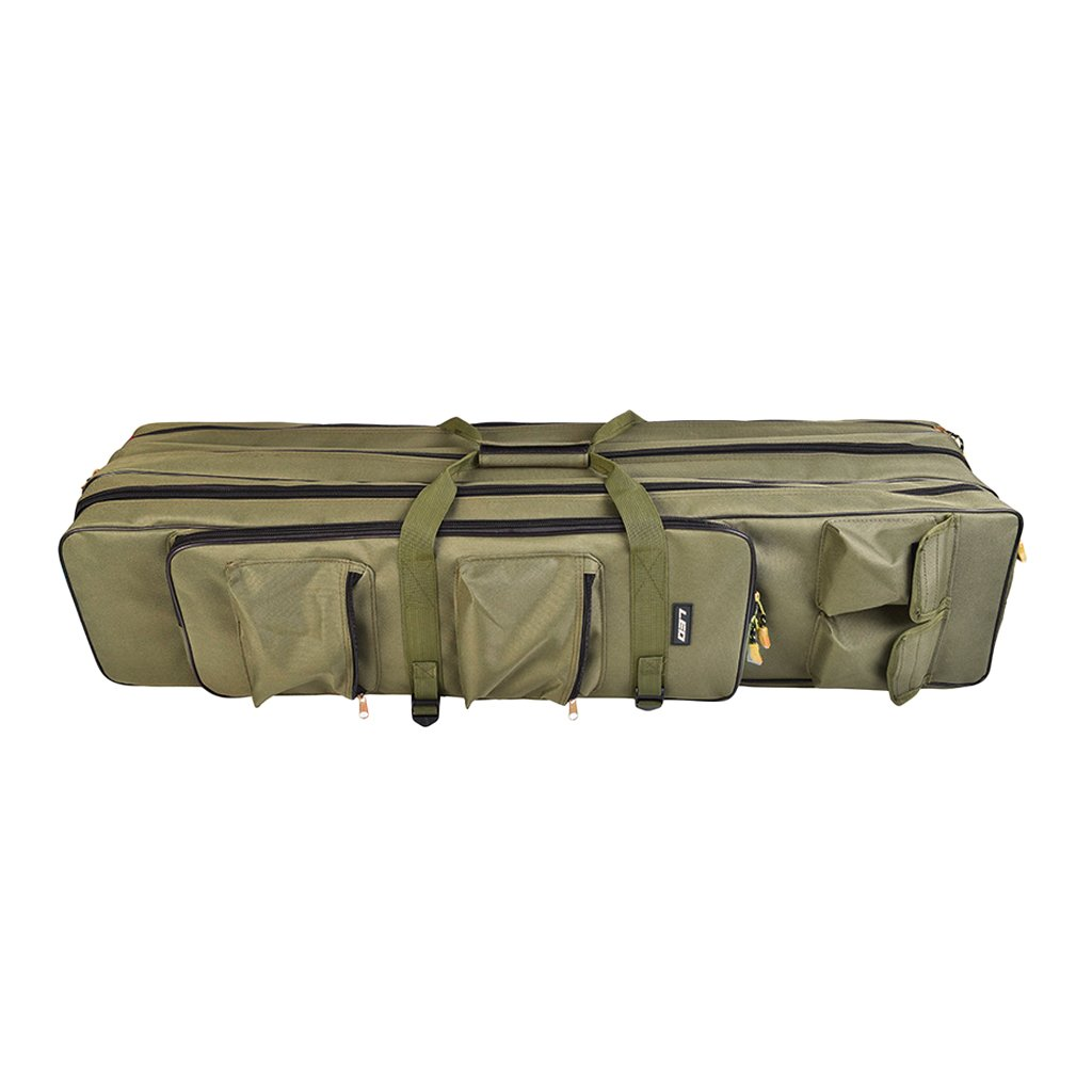 100x22x20cm BAOBLADE 3Layer Fishing Rod Carrier Fishing Gear Carry Case Rod & Reel Travel Storage Bag Backpack 80cm 100cm
