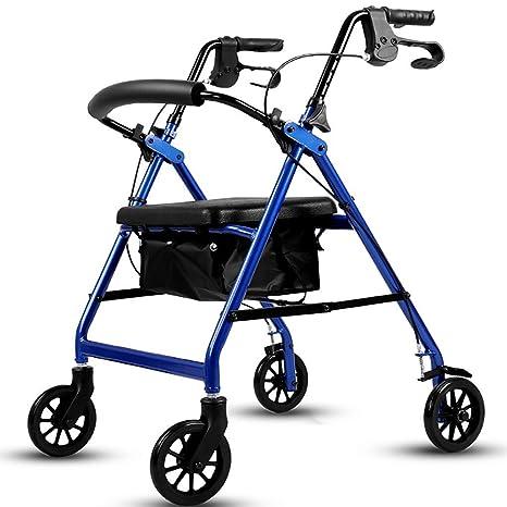 Andador de edad avanzada, andador portátil plegable Andador ...