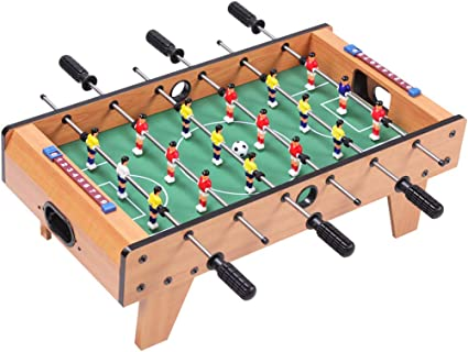 YCZM Medio Mesa de futbolín, 6 palancas de Mando con Marcador, Juegos de Mesa, Mini fútbol simulador, fácil de Instalar: Amazon.es: Hogar