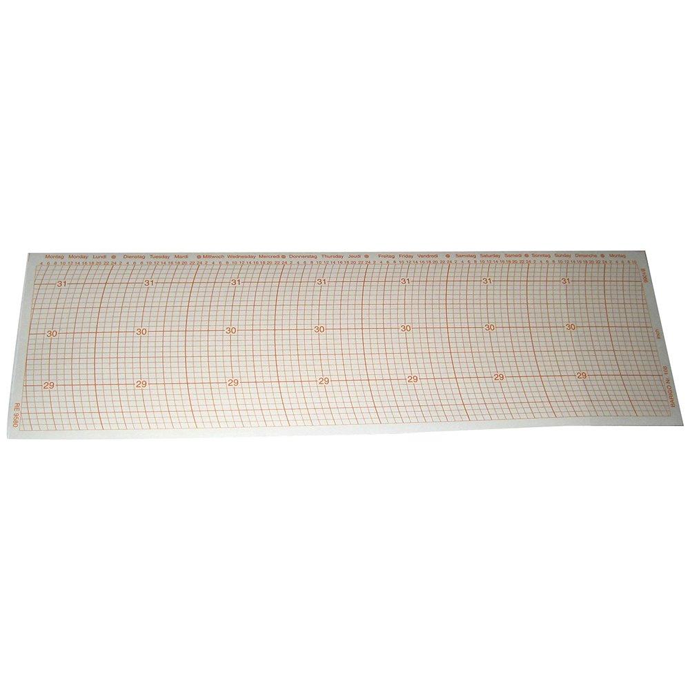 Barigo Graph Paper in Inch Scale f/Models 2000, 2001, 2003, 2004, 2005, 2006