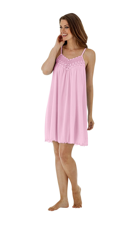 Shadowline Women's Plus-Size Beloved 38 Inch Braided Spaghetti Strap Short Gown Shadowline Sleepwear 34275X