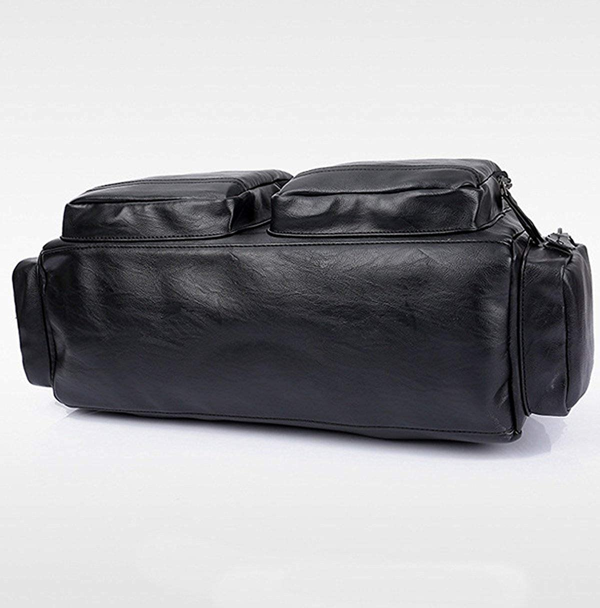 FYH Vintage Cool Textured Casual Luggage Bag Single Shoulder Bag For Men Brown Handbag