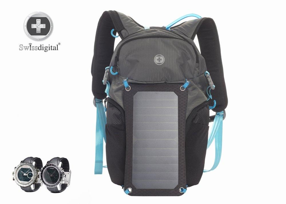SwissDigital Solar Shot Backpack - Hiking, Camping, Survival, Theme Parks, Adventure by Swissdigital