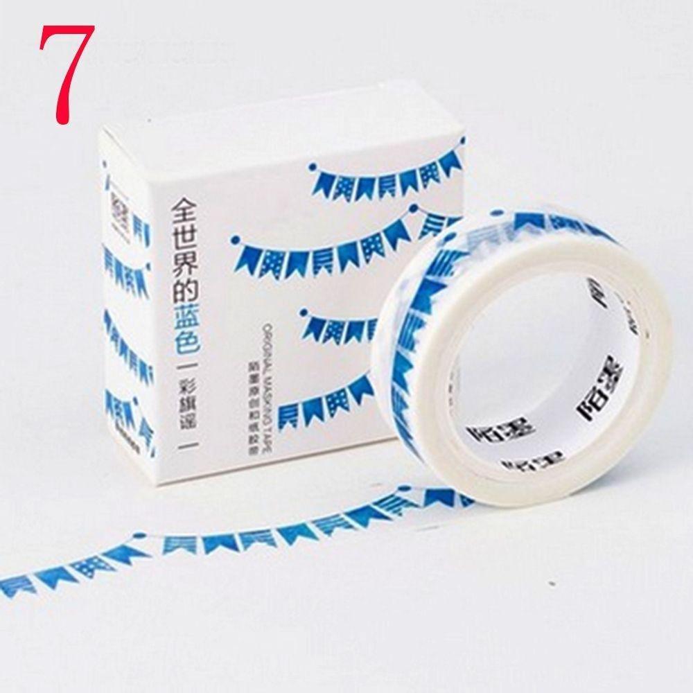 pocktyle 2 Pcs Adhesive Stylish Blue Washi Tape Scrapbook Sticker Masking Sticky Paper