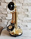 Decorative Antique Replica Rotery Dial Candlestick Functional Desk Telephone.