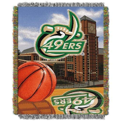 Northwest COL 051 UNC HFA North Carolina Charlotte 49ers NCAA Woven Tapestry Throw (Home Field Advantage) (48