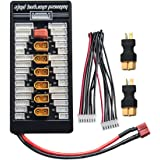 AKK XT60 Lipo Battery Charger 2-6S Parallel Balanced Charging Board Charging Plate for Imax B6 B6AC (Includes 2 pcs XT60 Female to Deans T Plug Male Connectors)