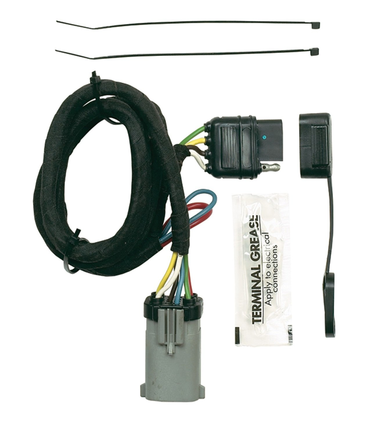 613qndjxv2L._SL1500_ amazon com hopkins 40165 plug in simple vehicle wiring kit hoppy wiring harness at crackthecode.co