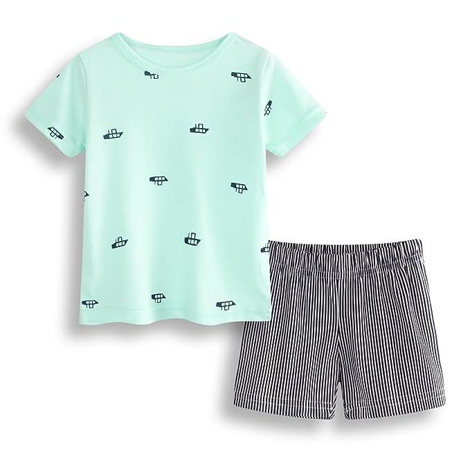55ec8cb5f70dd Hooyi Baby Boy Clothes Suit Boat Short Sleeve T-Shirt Panties ...