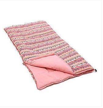 MEMGYZ Sacos de dormir grueso aumento infantil camping bolsa de dormir al aire libre portátil caliente mosaico soy el saco de dormir , pink: Amazon.es: ...