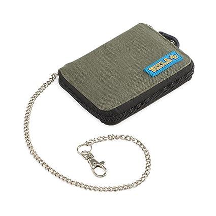 Rizla - Cartera vertical Rizla Rock, monedero, tarjetero, portadocumentos, con cadena