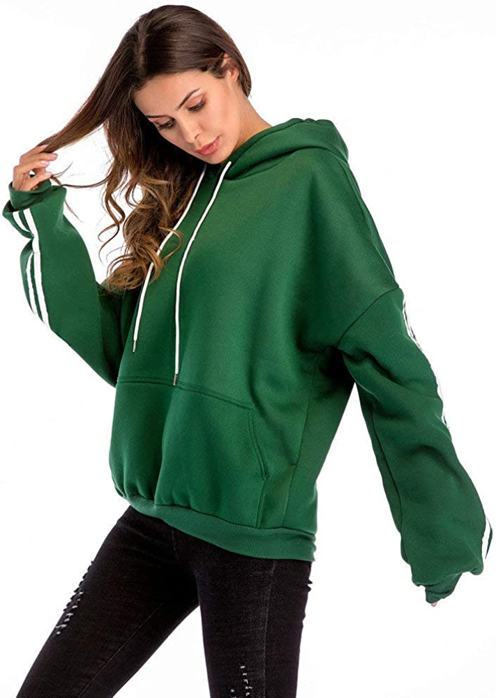 ZUong2 Womens Plus Size Hoodie with Pockets Fashion Long Sleeve Colorblock Slouchy Pullover Drawstring Sweatshirt