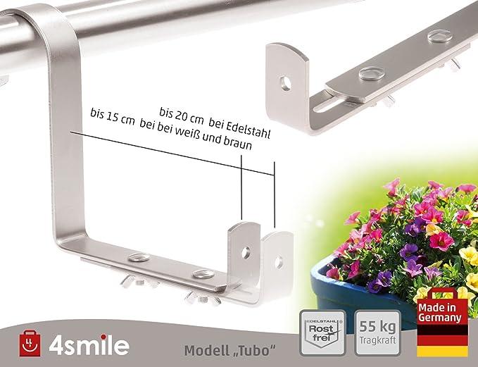 EMSA Vario Comfort Cassetta per fiori Supporto per cassetta per fiori rotonda ringhiera