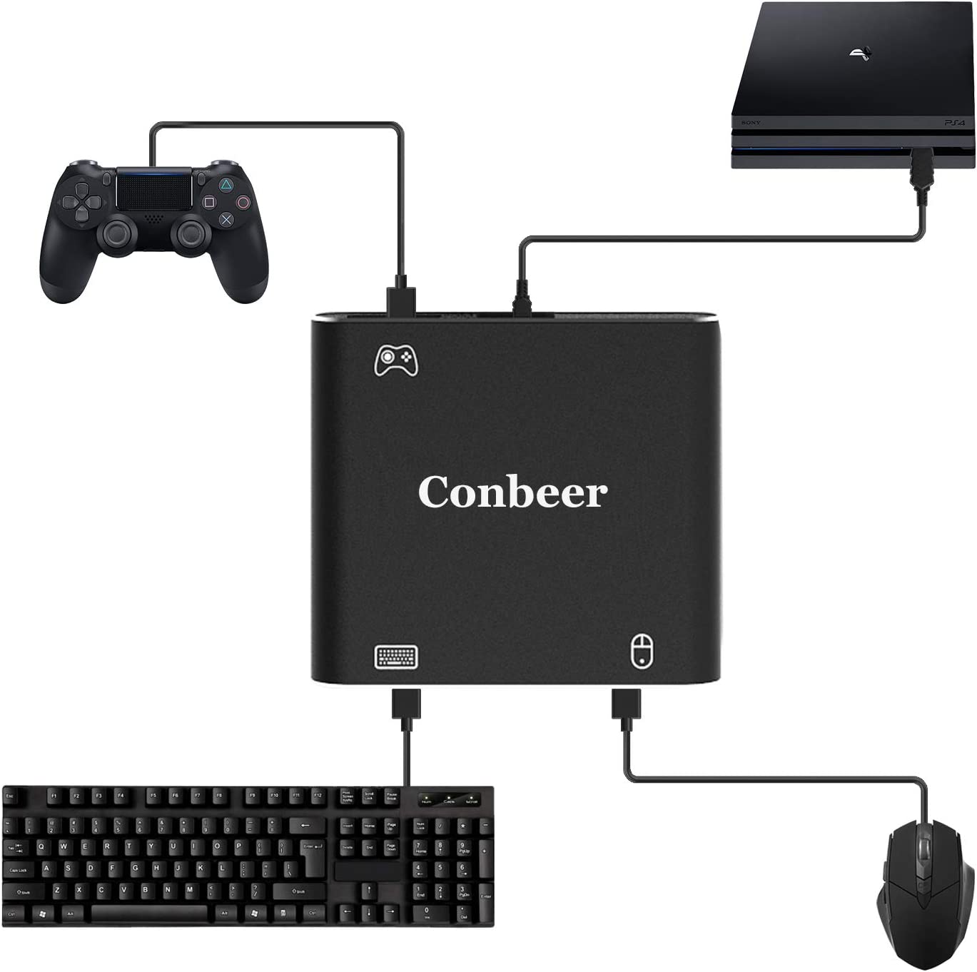 Amazon com: Mouse-Controller-Keyboard-Adapter, Conbeer PUBG