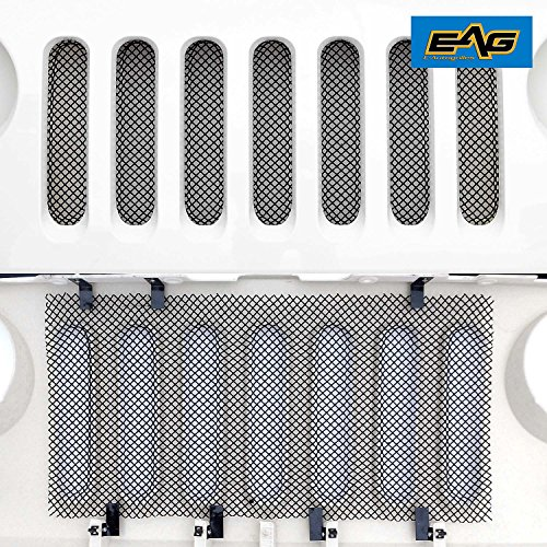 Eag Stainless Steel Wire Mesh Grille Bug Screen For 07-18 Jeep Wrangler Jk