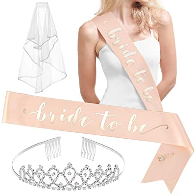 xo, Fetti Rose Gold Pink Bachelorette Party Decorations Kit