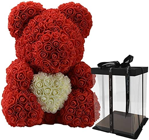 Artificial Rose Bear Flower Birthday Party Wedding Decor Valentine/'s Day Gifts