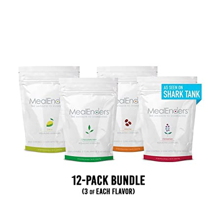 MealEnders Signaling Lozenges Control Appetite and Cravings, Stop Overeating, and Boost Your Diet Weight Loss Program, 25-Count Bag Pack of 12 Moch Cit Cinn Choc. Mint