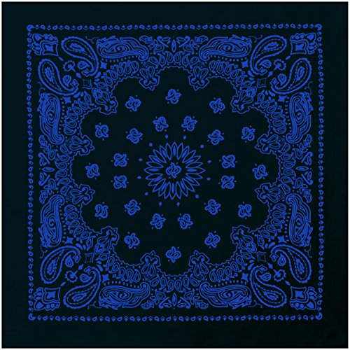 ana, Black / Blue (Black Trainmen Bandana)