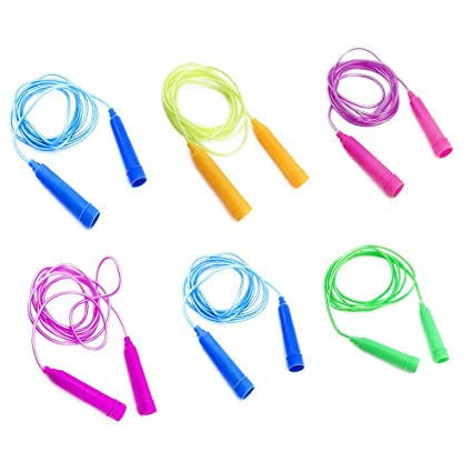 sc0nni jump ropes 78 feet set of 6 assorted colors best christmas