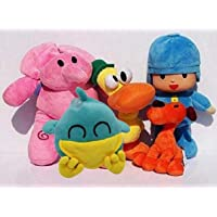Wendingstan Pocoyo Plush 14cm-30cm Bed Deco The Whole Set for Pocoyo Lovers Great Gifts (5 Pieces Set)