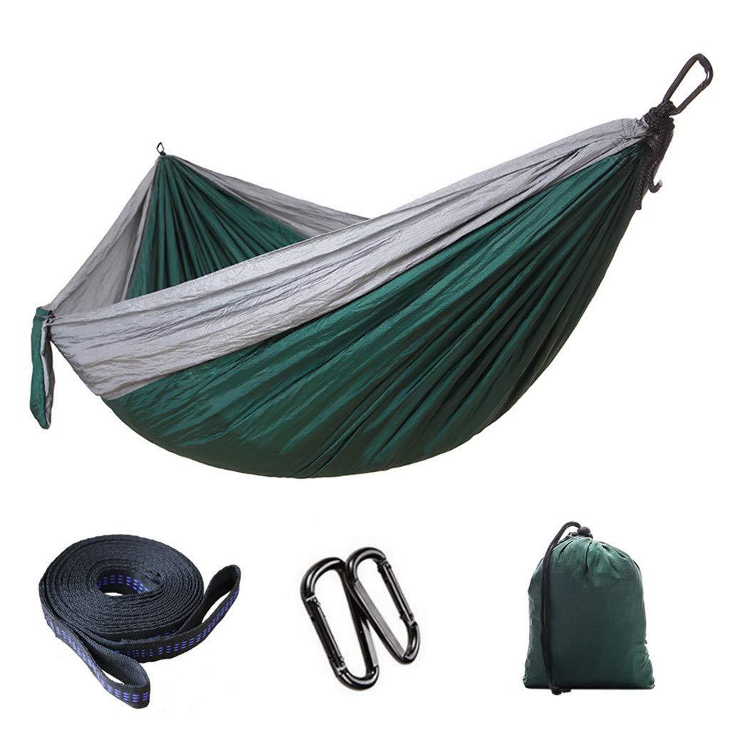 CreazyBee Double Camping Hammock Outdoor Camping Swing Luxury Light Parachute Hammock (Green) by CreazyBee