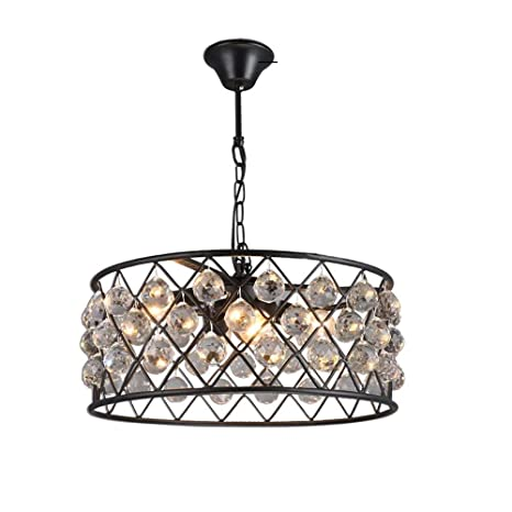 Amazon.com: Vintage Industrial Crystal Chandelier,Retro ...