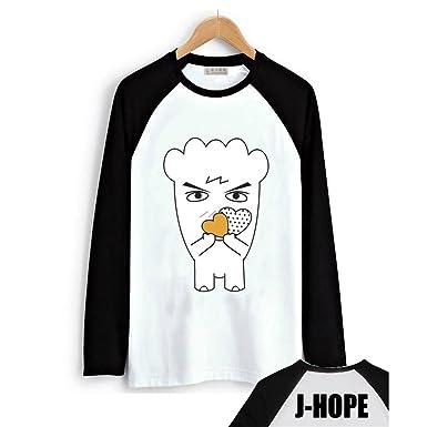 Fanstown BTS bangtan boy official same hiphop monster long shirt J-HOPE Jinmin V Rap