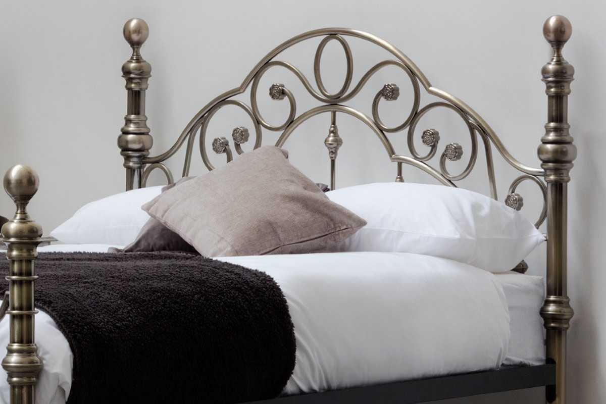 Canterbury Antik Messing Vintage Viktorianischer Stil Metall Bett ...