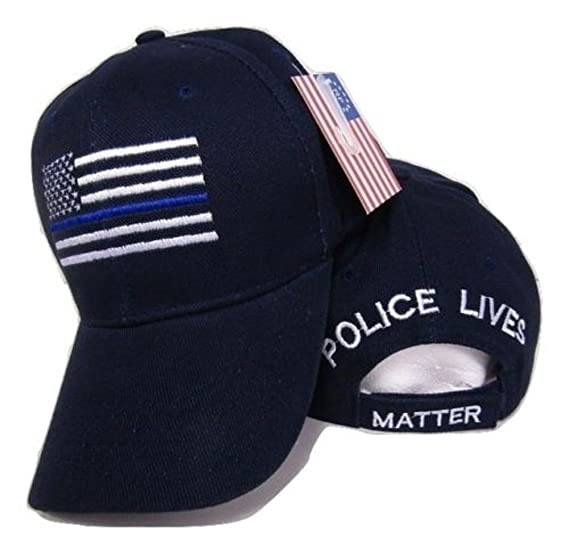 Image Unavailable. Image not available for. Color  USA Police Memorial Blue  Line Police Lives Matter Dark Blue Embroidered Cap Hat 3252b223e680