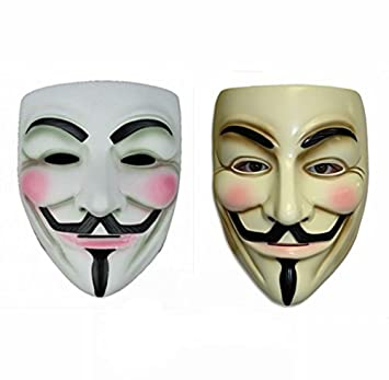 Generic Gmasking V for Vendetta Guy Fawkes Máscara (2 unidades)