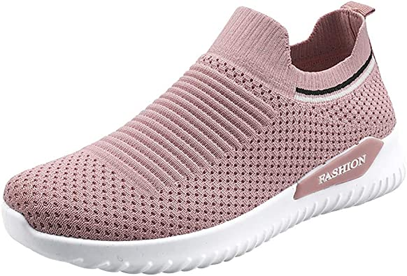 Women Running Shoes Casual Mesh Breathable Sock Shoes Outdoor Sneakers Fashion