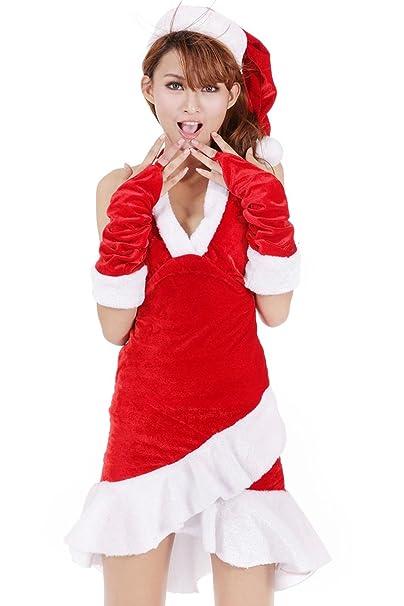 MNII Traje De Santa Claus De Mujer Traje Rojo Y Blanco De ...